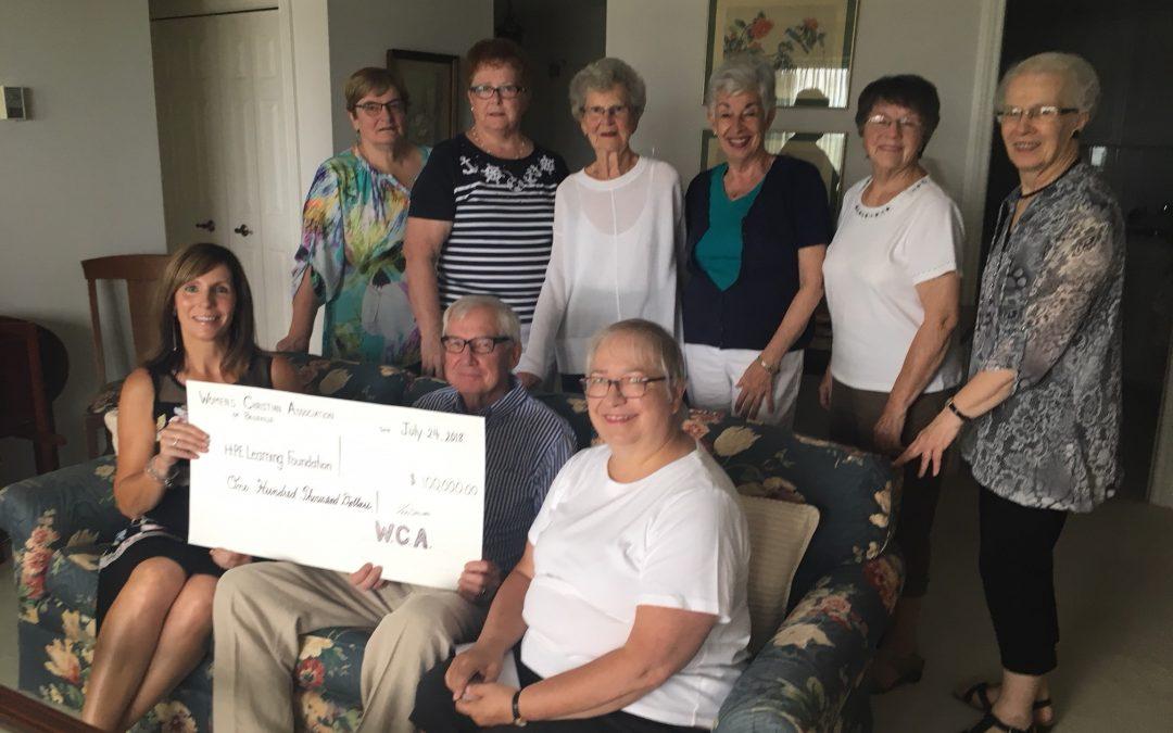 Women's Christian Association of Belleville Donation Presentation